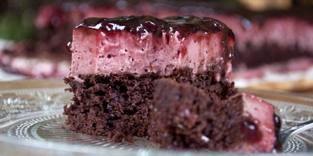 Juba's Cherry Chocolate Slice