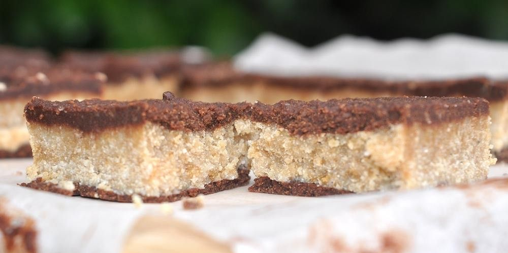 Coconut Cookie Dough Chocolate Slice