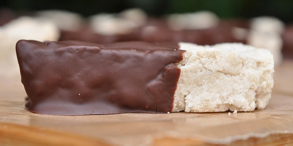 Chocolate Dipped Orange Shortbread