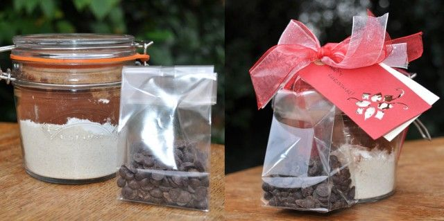 Christmas Double Chocolate Cookies in a Jar