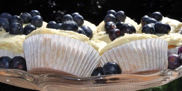 Lemon and Blueberry Cupcakes with Lemon Buttercream Frosting