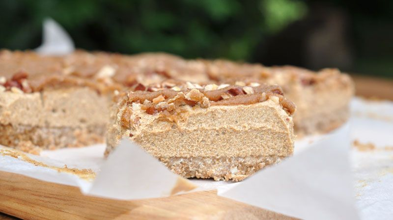 Coffee and Pecan Slice