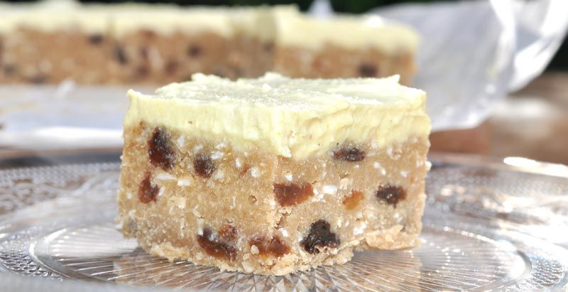 Mothers Day Lemon Coconut and Sultana Slice