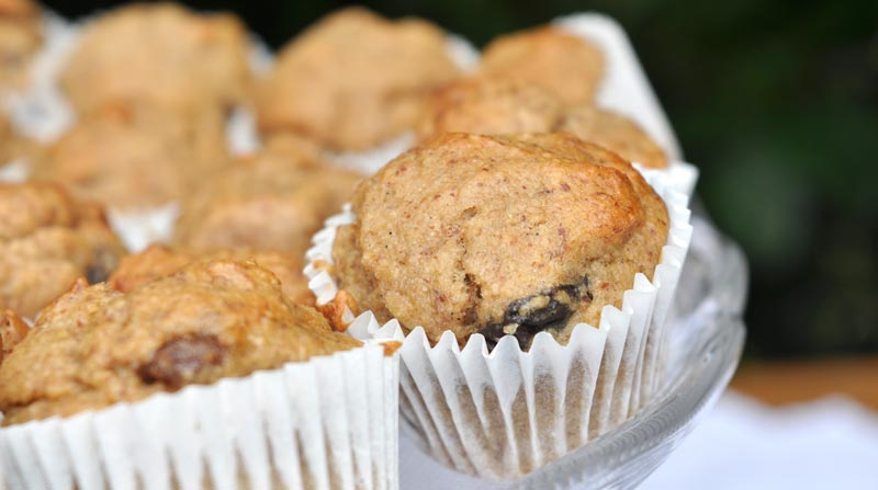 Mini Banana and Raisin Muffins 0005