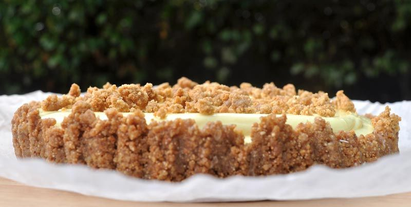 Lemon Cream Pie With A Ginger Nut Crust