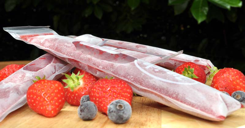 Strawberry Pomegranate and Blackcurrant Popsicles